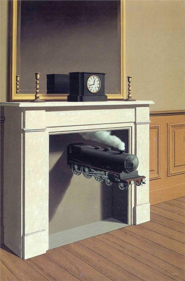 Time Transfixed, 1938 by Rene Magritte